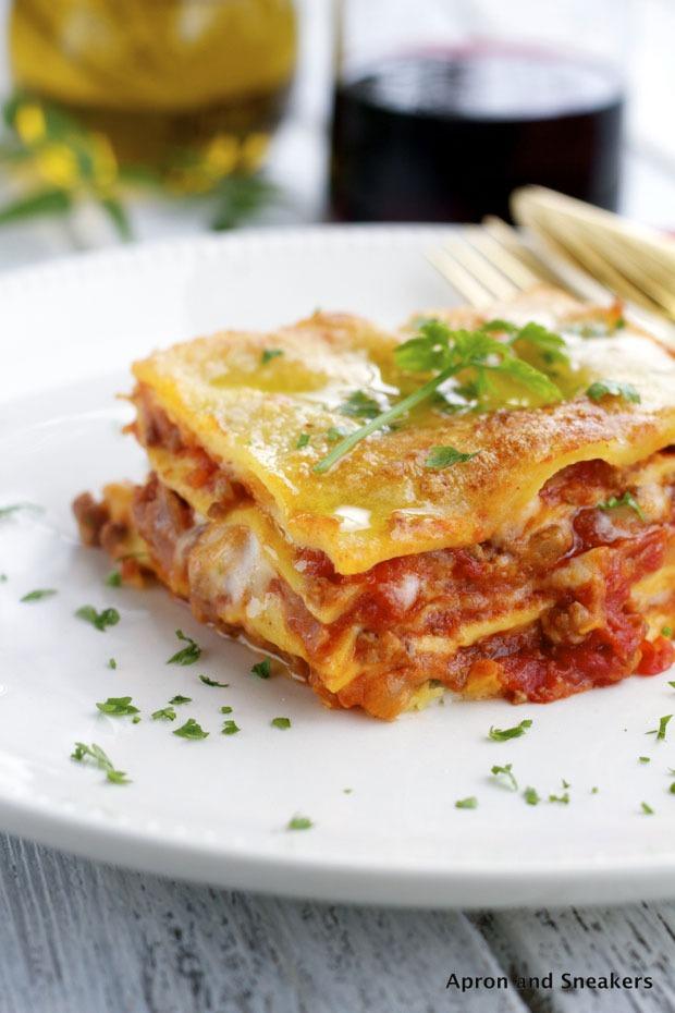 Recette italienne lasagne à la bolognaise