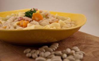Recette italienne pâtes aux haricots blancs