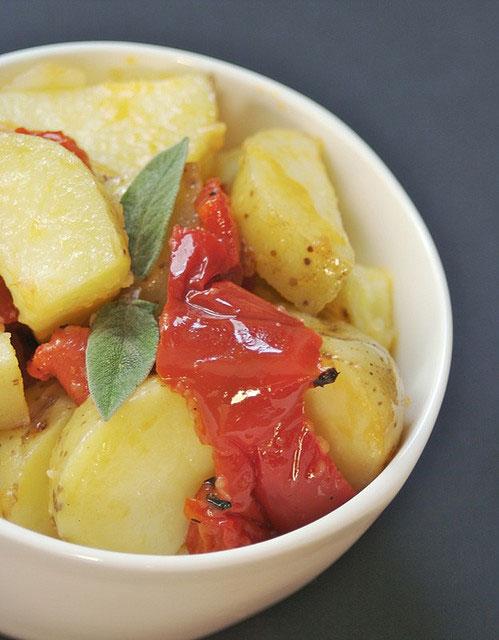 Recette italienne pommes de terre et poivrons