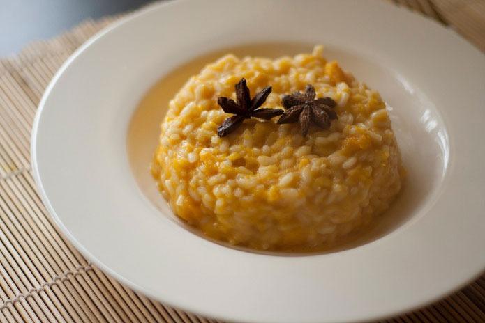 Recette italienne risotto à la courge