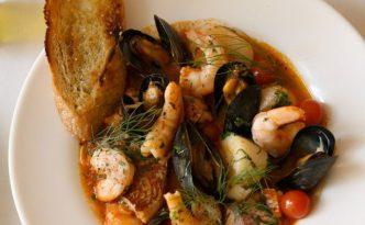 Recette italienne soupe de poisson et coquillages