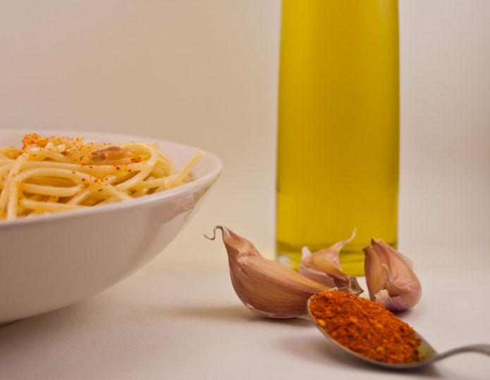 Recette italienne spaghetti, ail, huile et piment