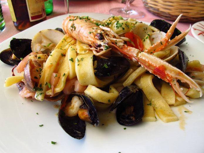 Recette italienne pâtes aux fruits de mer