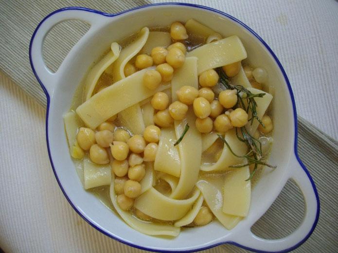 lagane aux pois chiches recette de p 226 tes de la cuisine italienne