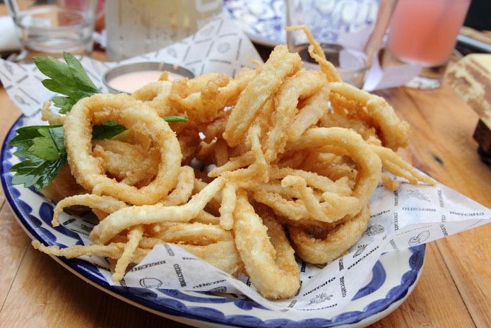Recette italienne calamars frits à la romaine