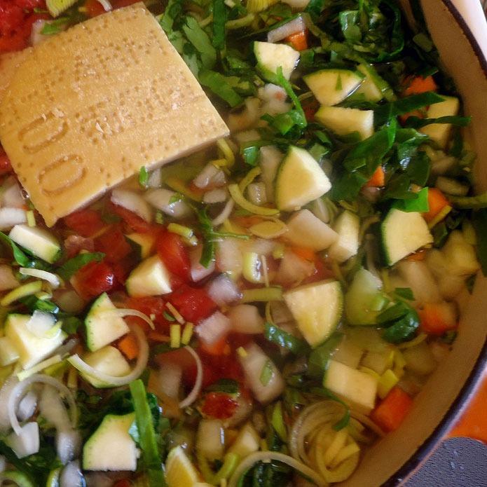 Recette italienne minestrone à la milanaise