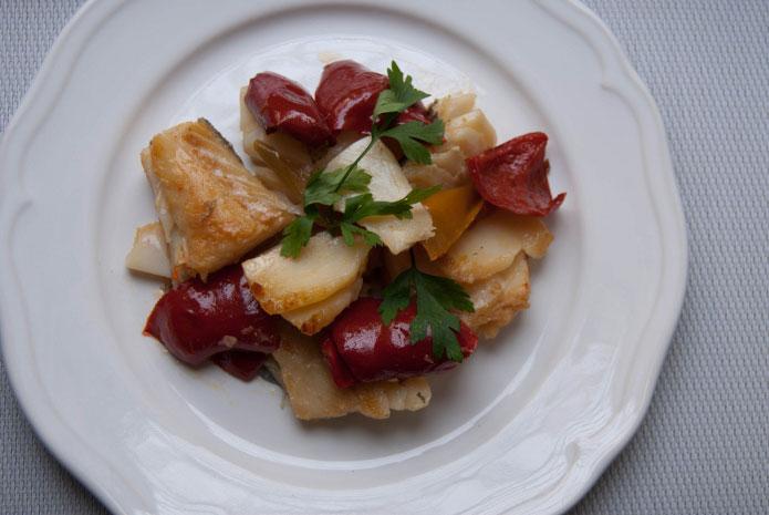 Recette italienne morue séchée aux poivrons