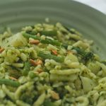 Recette italienne pâtes, pesto, haricots verts et pommes de terre
