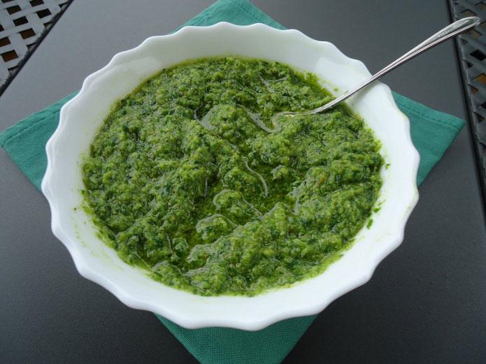 Recette italienne sauce verte