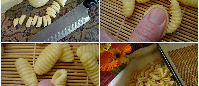 Pâtes italiennes faites maison malloreddus