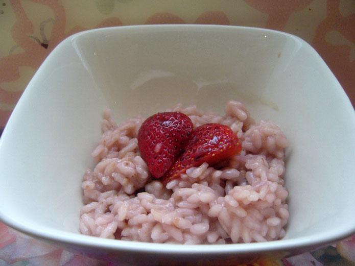 Recette italienne risotto aux fraises