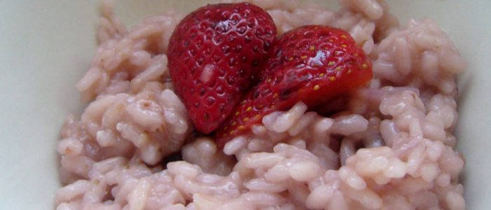 Risotto aux fraises