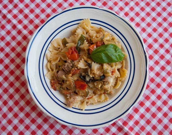 Recette Italienne Farfalle thon courgettes et tomates cerises
