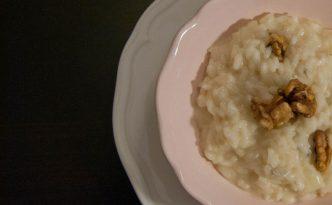 Recette italienne risotto gorgonzola et noix
