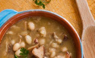 Soupe haricots blancs et cèpes