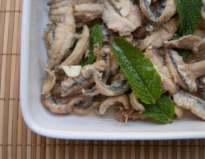 Recette italienne scapece d'anchois