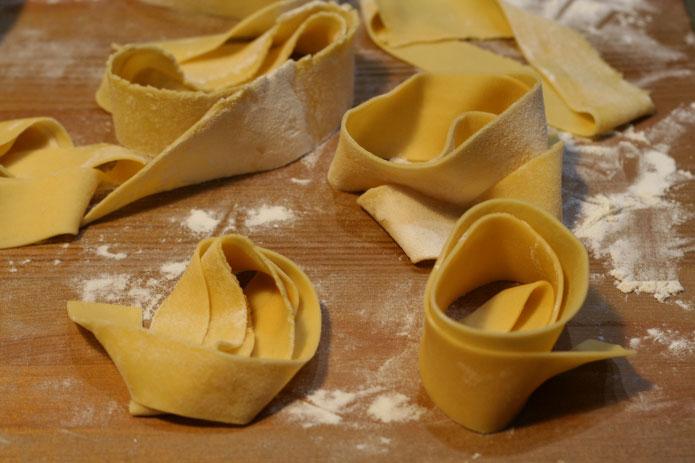 Recette italienne pâtes à l'oeuf faites maison