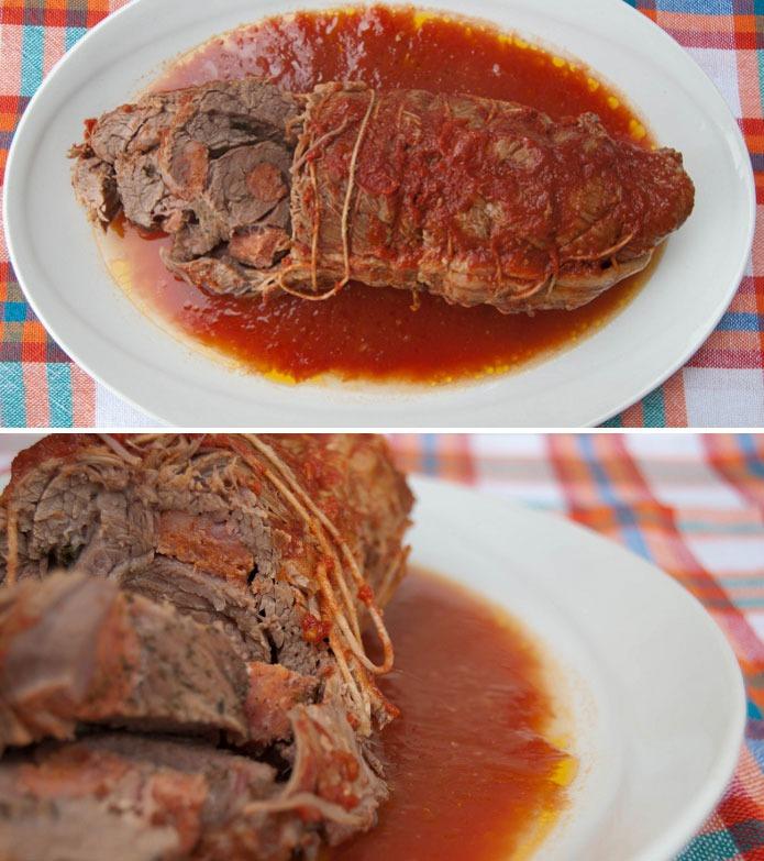 Recette italienne Braciola à la sauce tomate