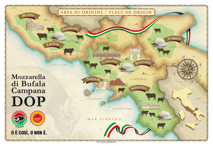 Mappe mozzarella bufala