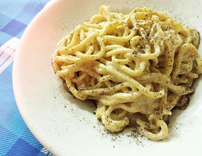 Recette italienne cacio e pepe