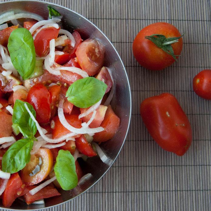Recette italienne salade de tomates