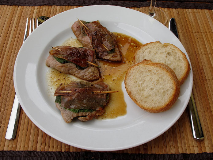 Recett italienne saltimbocca à la romaine