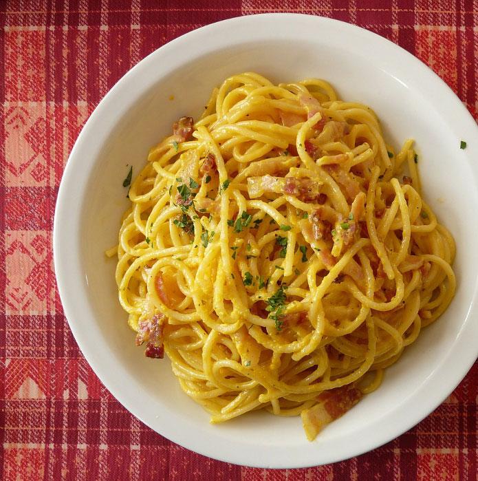 Recette italienne spaghetti à la carbonara