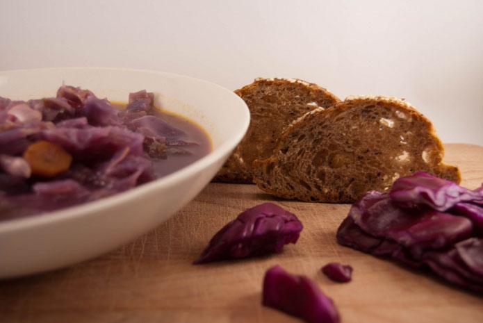 Recette italienne soupe au chou rouge