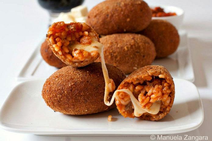 Suppli Au Telephone Croquettes Ovales De Riz La Cuisine Italienne