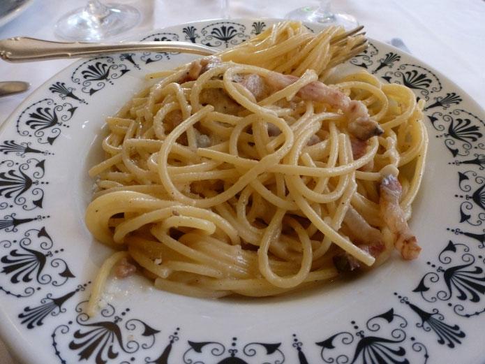 Recette italienne pâtes à la gricia