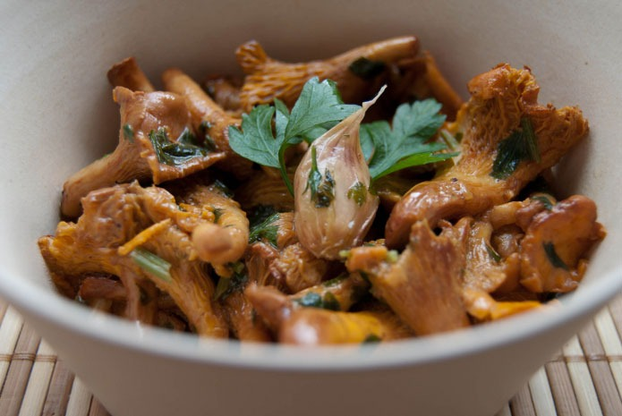 Recette italienne girolles trifolate