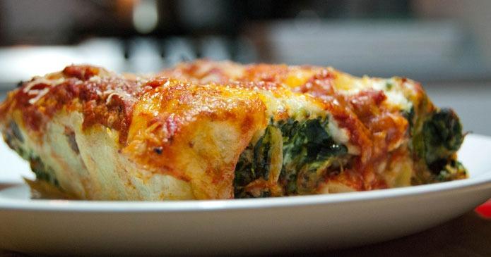 Recette italienne cannelloni ricotta et épinards